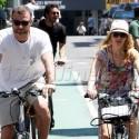 Naomi Watts And Liev Schrieber Biking Around NYC