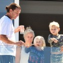 Gavin Rossdale Arrives To Eden Roc With Kids In Tow