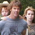 Emma Roberts Hangs With Uncle Danny And Cousin Finn