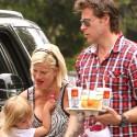 Tori Spelling Preps For Stella's Birthday Party