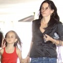 Courtney Cox And Coco Spend The Day At The Studio