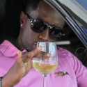 P. Diddy Drinks Wine ... On The Street
