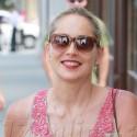 Sharon Stone Smiles Big