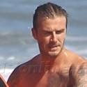 The Beckham Boys Hit The Beach