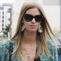 Nicky Hilton Goes Shopping In Purple Jeans