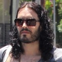 Russell Brand Grabs A Cold Coffee In LA