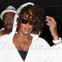 Whitney Houston Lands At LAX