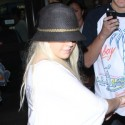 Christina Aguilera Arrives At LAX