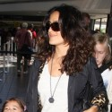 Salma Hayek And Family Leave LA And Jet To  France