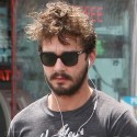 Shia LaBeouf Steps Out Sporting A Shaggy New Beard In LA