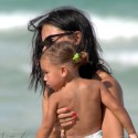 Adriana Lima Takes Her Baby To The Beach