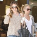 Ashley Tisdale And Haylie Duff Shop At Barneys