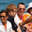 Elton John And Hubby David Furnish Take Their Son Zachary Levon To St. Tropez