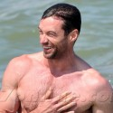 Hugh Jackman Looks Hot While PLaying With His Kids In St. Tropez