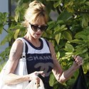 Melanie Griffith Hangs With Her Pup