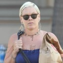 Pink Looks Skinny After Baby While Shopping In Malibu