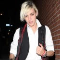 Samantha Ronson Smokes In Front Of The Viper Room In Hollywood