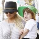 Christina Aguilera Picks Son Up In Santa Monica
