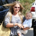 Ali Larter Takes Baby Theodore On Some Errands