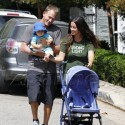 Alanis And Her Husband Take Baby Ever On A Walk