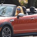 Blake Lively Cruises In A Mini On Set