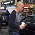Matt Damon Gets Coffee In New York