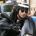 Justin Theroux Rides His Bike Though NYC