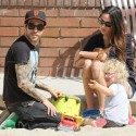 Pete Wentz Brings Son And New Girlfriend To The Playground