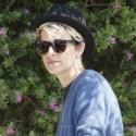 Samantha Ronson Drives Through Beverly Hills