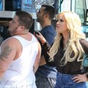 Chaz Bono And Pro Partner Lacey Schwimmer Chow Down After DWTS Rehearsal
