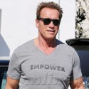 Arnold Schwarzenegger And Boys Go To Brentwood Country Mart