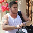 Chaz Bono Grabs His Dry Cleaning