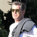 Pierce Brosnan Takes Wife To Lunch In Malibu