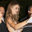 Rosie Huntington-Whiteley At Burberry's Fragrance Launch