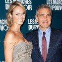 George Clooney And His Lady Love Strike A Pose In  Paris