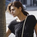 Eva Mendes Braves The Rain And Attends A Cooking Class In LA