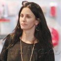 Courteney Cox Shops For Sweaters At Satine