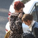 Eva Mendes Sports Amy WInehouse Look On Set