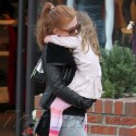 Isla Fisher Takes Olive Shopping In LA.