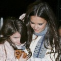 Katie Holmes Carries Suri To A Helicopter In NYC
