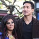Snooki Sneaks In A Visit With Mario Lopez