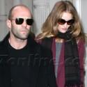 Jason Statham And Rosie Huntington-Whiteley Strut Down The Sidewalk In NYC