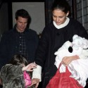 Tom Cruise And Katie Holmes Leave NYC With Suri