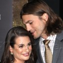 Ashton Kutcher And Lea Michele Get Cozy At New Year's Eve Premiere