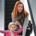 Marcia Cross Takes Her Twins Shopping