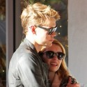 Emma Roberts And Chord Overstreet Cuddle Over Coffee