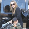 Angelina Jolie Takes Pax And Maddox On A Shopping Spree In Hollywood