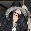 Megan Fox Hides At LAX