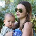 Miranda Kerr And Her Little Munchkin Have A Play Date At The Park