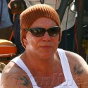Mickey Rourke Shows Off His Muscles